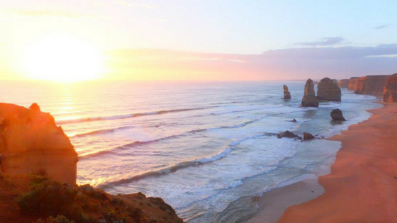 Uitzicht zonsondergang 12 Apostles